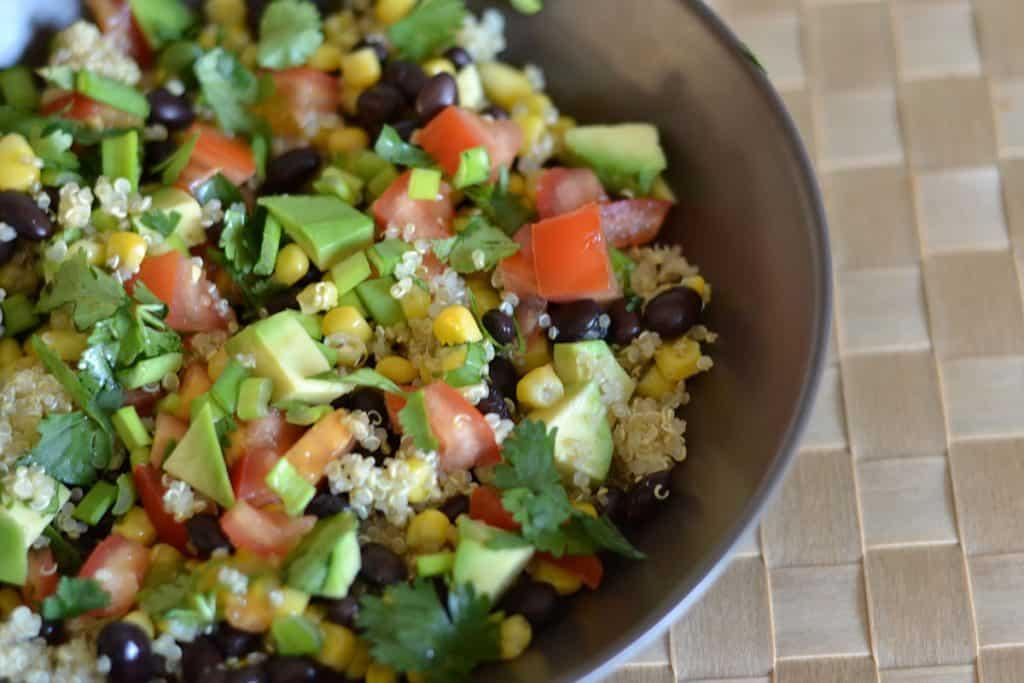 Black Bean and Corn Quinoa Salad - Wholesomelicious