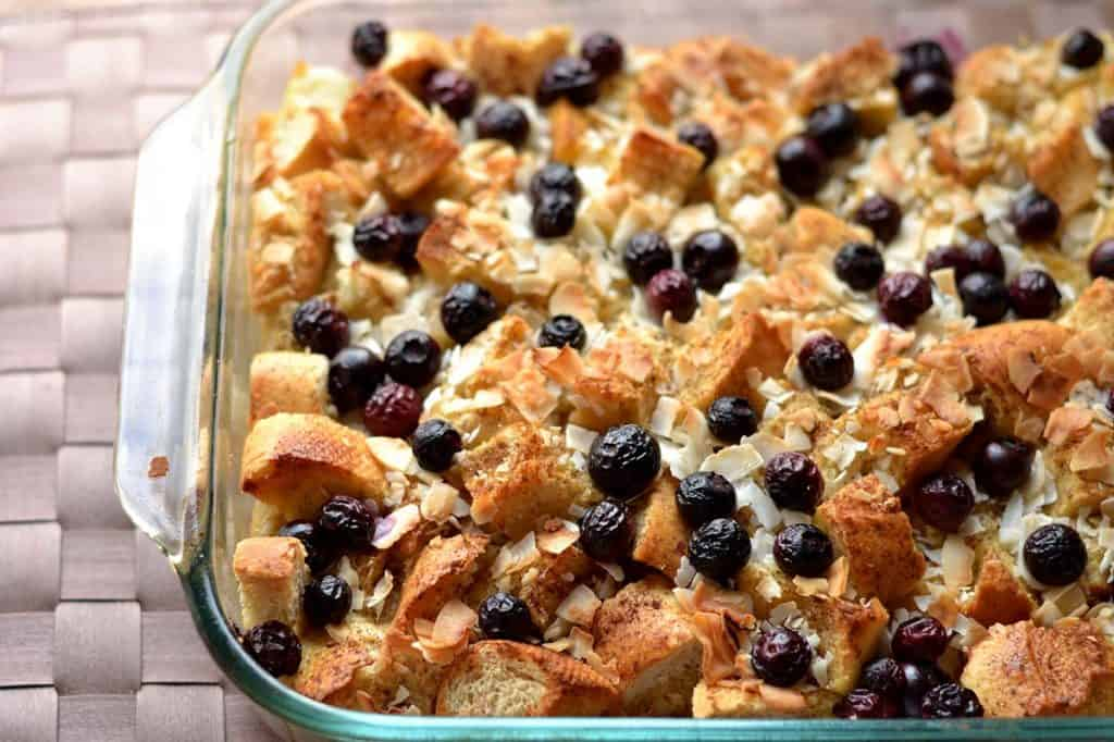 Blueberry Coconut French Toast