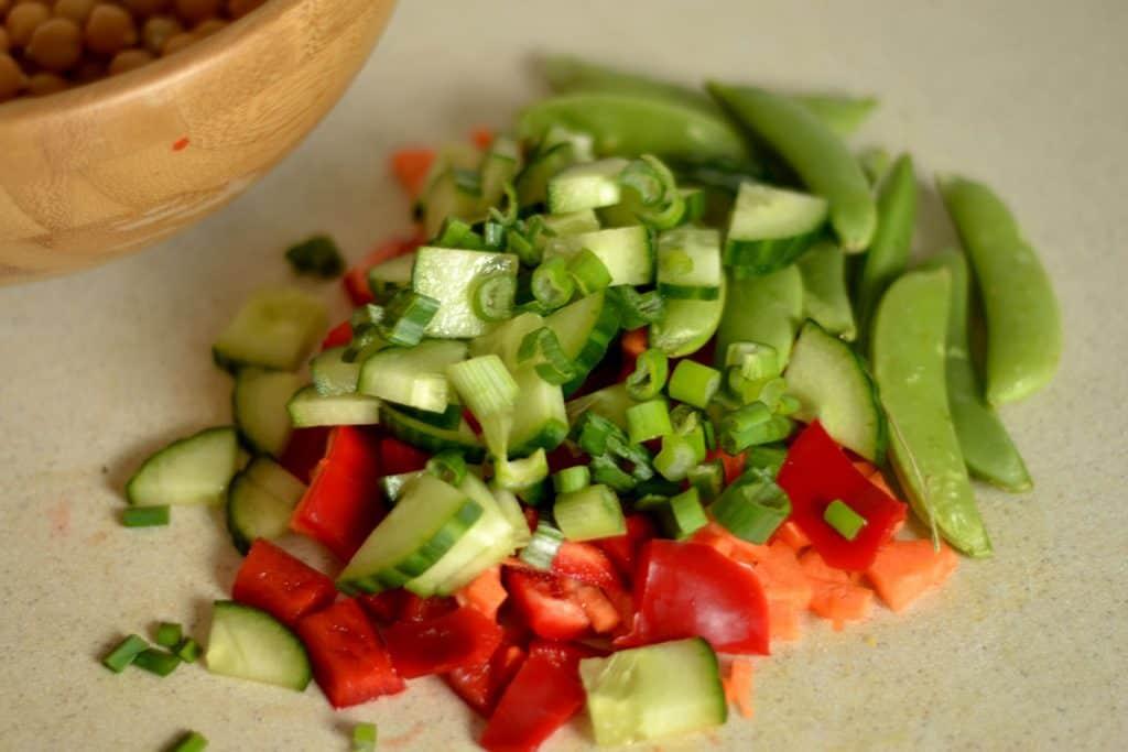 Chickpea Salad with Ginger & Sesame Dressing2