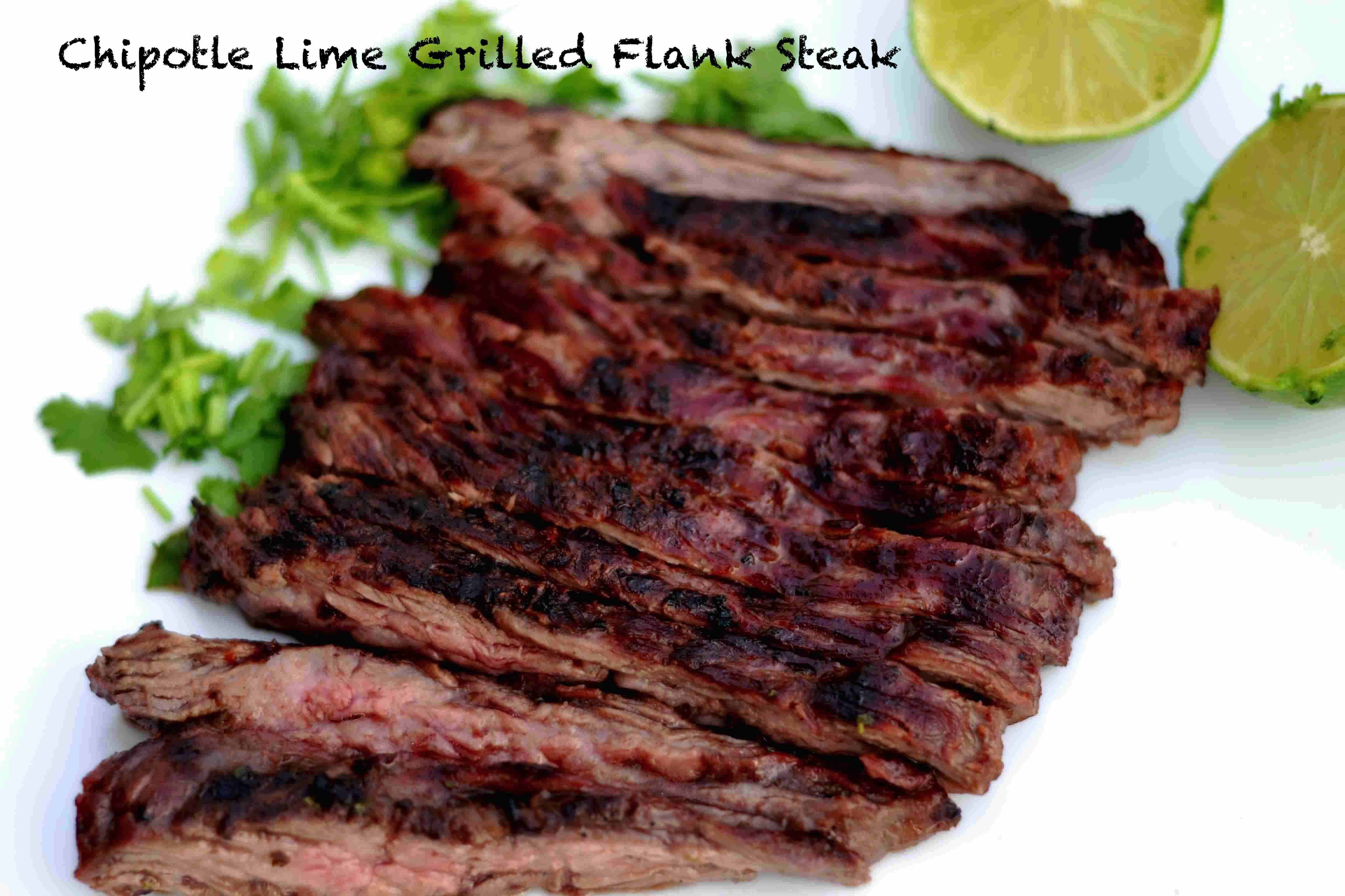 chipotle lime grilled flank steak wholesomelicious