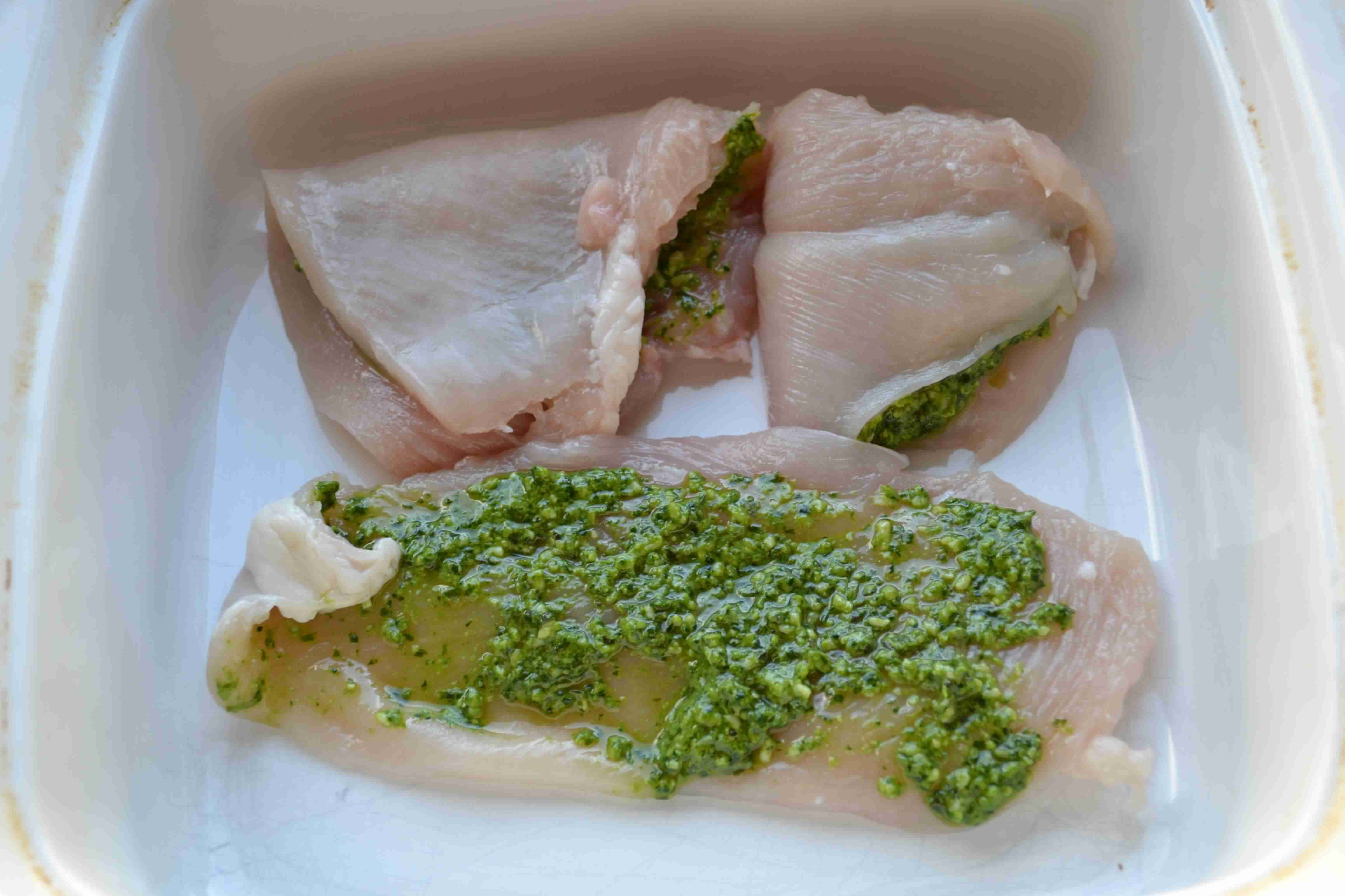 Grilled Pesto Stuffed Chicken with Balsalmic Glaze - Wholesomelicious