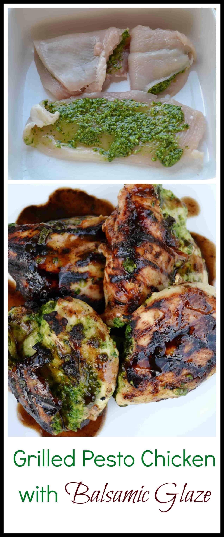 Grilled Pesto Stuffed Chicken with Balsalmic Glaze ...