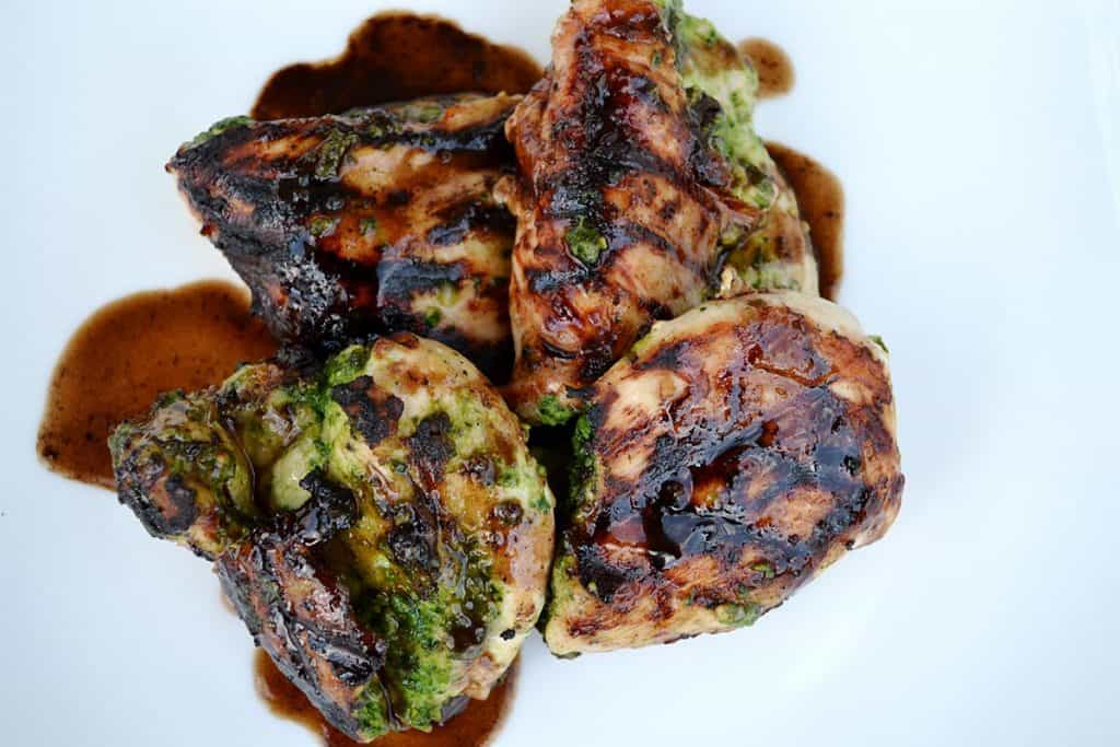 Grilled Pesto Stuffed Chicken