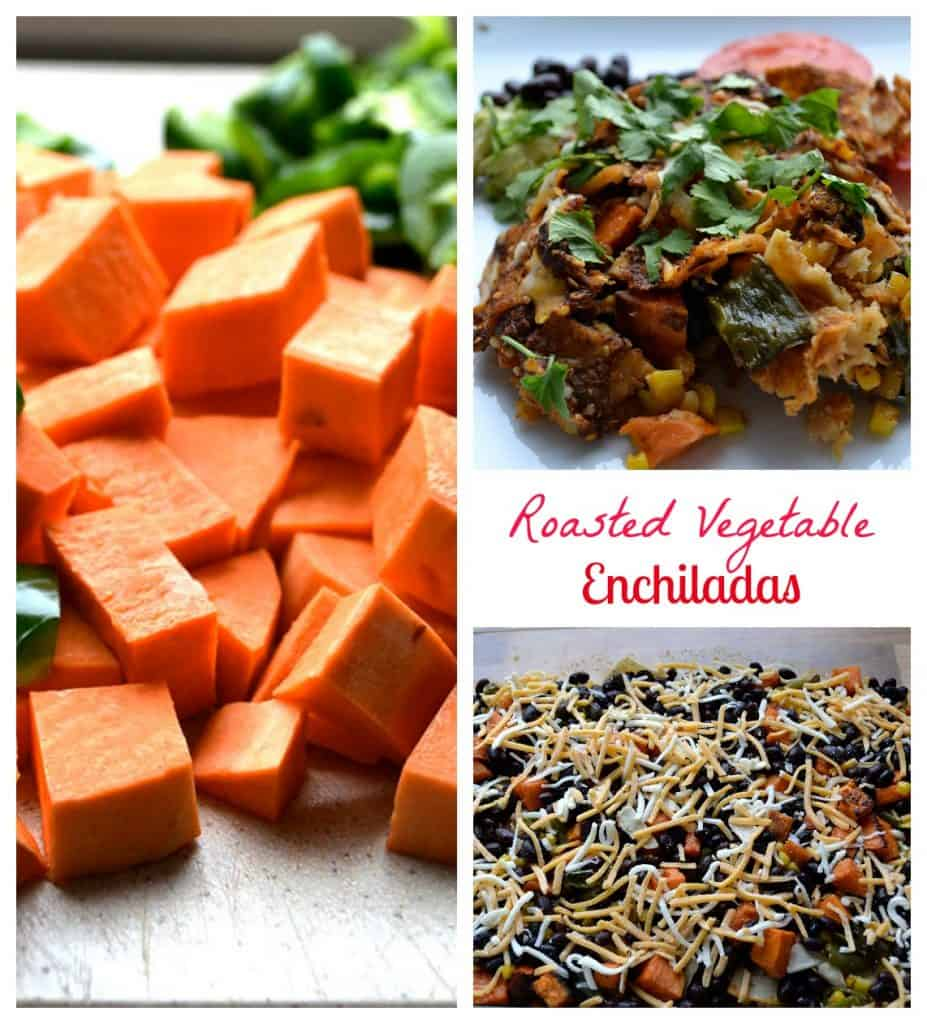 Roasted Vegetable Enchiladas Pin