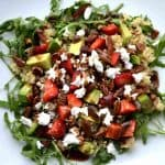 Strawberry and Arugula Quinoa Salad