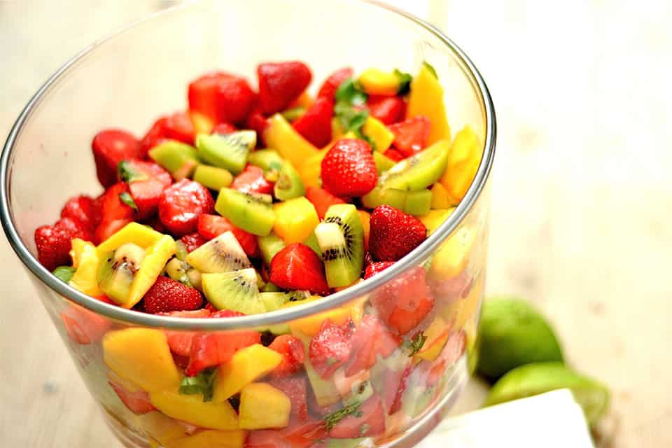 Basil Lime Fruit Salad2