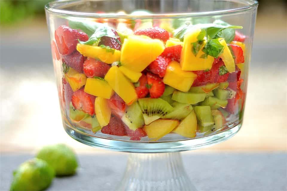 Basil Lime Fruit Salad3