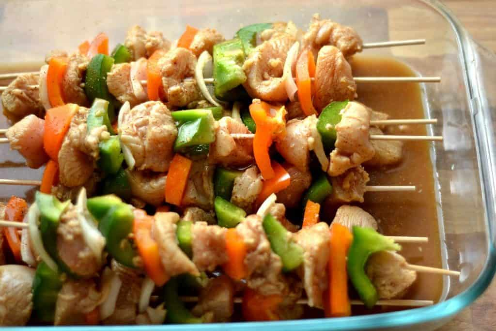 Chicken fajita kabobs2