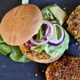 Chickpea and Red Pepper Veggie Burgers