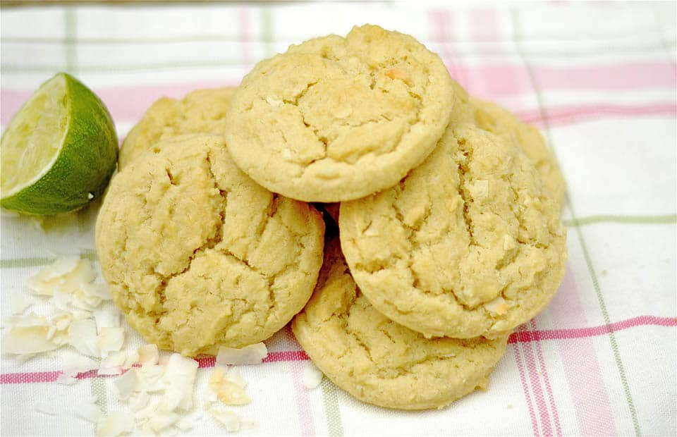 Lime and Coconut Sugar Cookies - Wholesomelicious