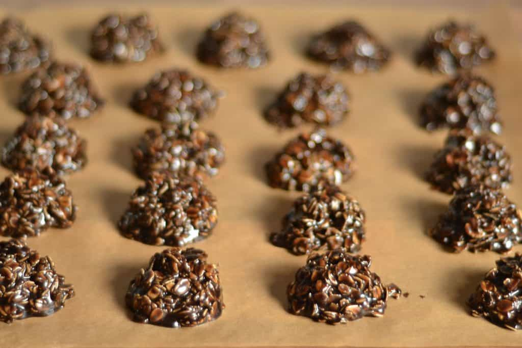 No Bake Dark Chocolate and Cookie Butter Cookies2