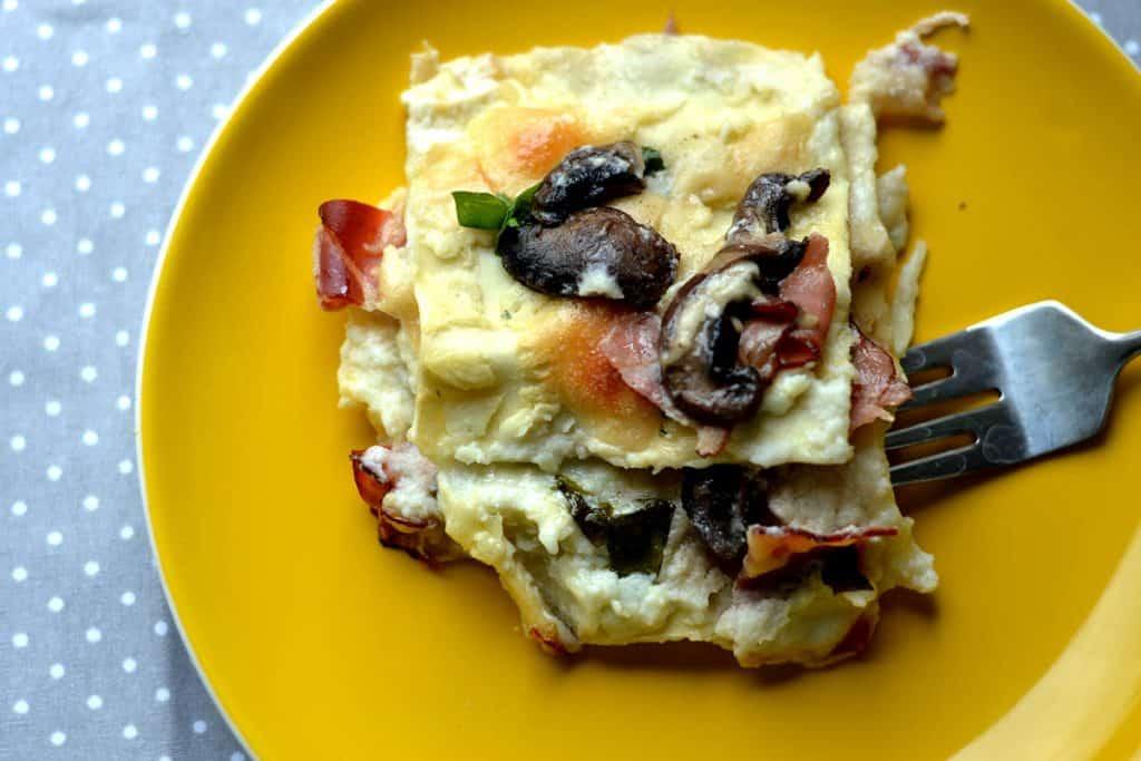 Prosciutto and mushroom lasagna3