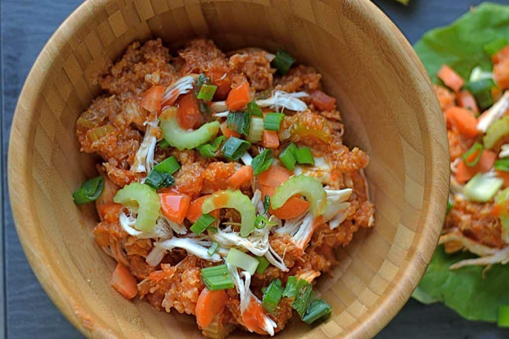 Slow Cooker Buffalo Chicken and Quinoa