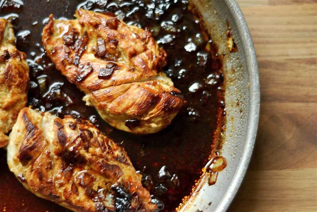 Sticky Honey and Ginger Chicken Skillet2