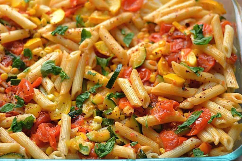 Summer Garden Vegetable Pasta