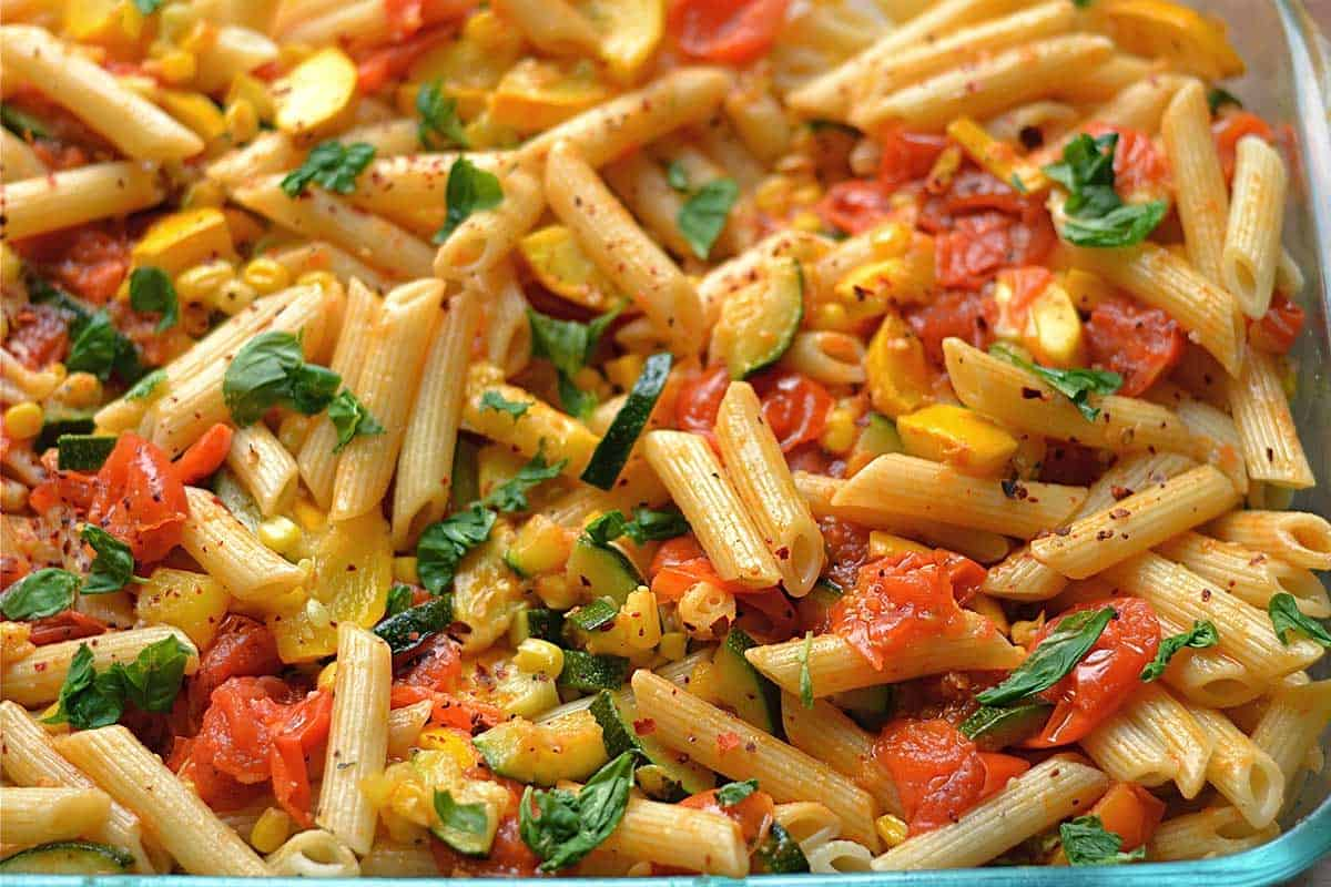vegetable garden pasta wholesomelicious