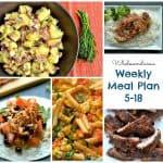 Weekly Meal Plan 5-18