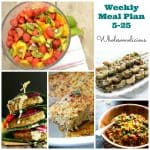 Weekly Meal Plan 5-25