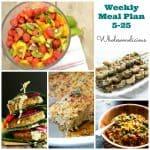 Weekly Meal Plan 5-25