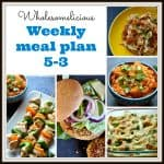 Weekly Meal Plan, May 3rd