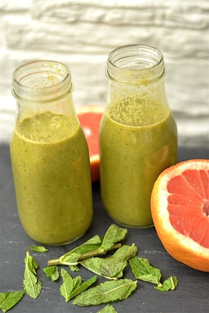 Grapefruit and Mint Green Juice