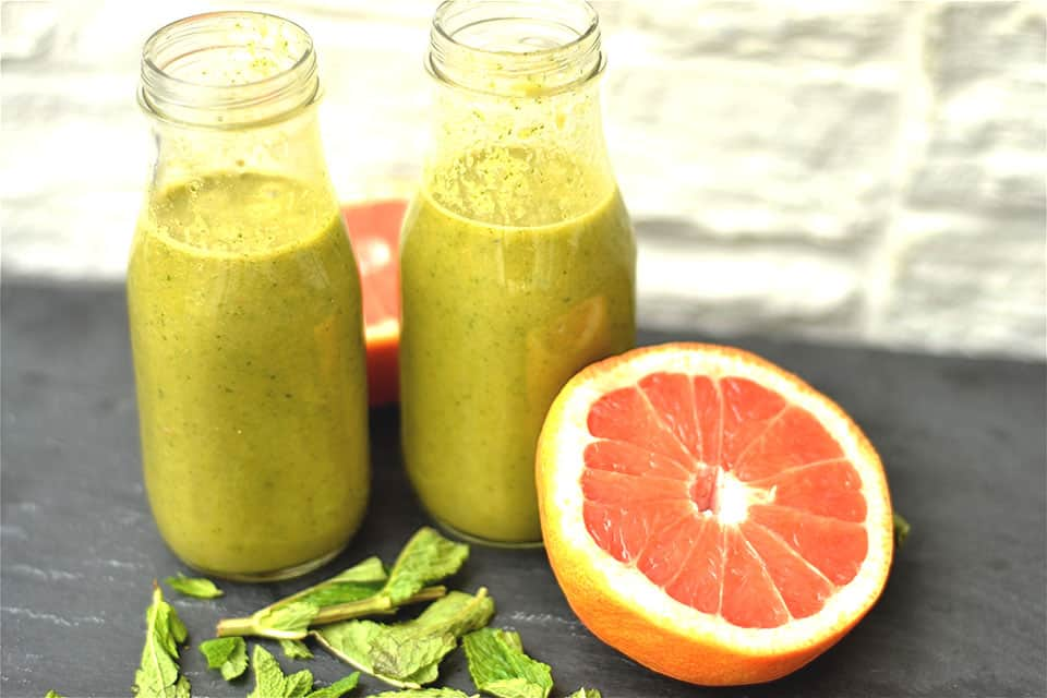 Grapefruit and Mint Green Juice1