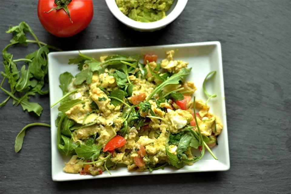 Green Egg and Tomato Scramble 1