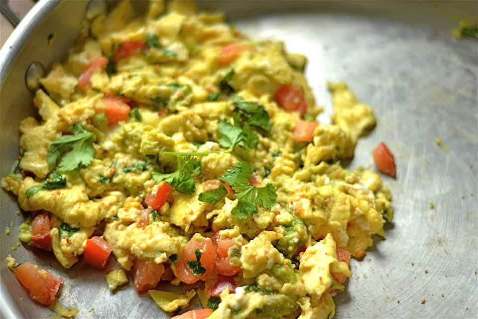 Green Egg and Tomato Scramble 3