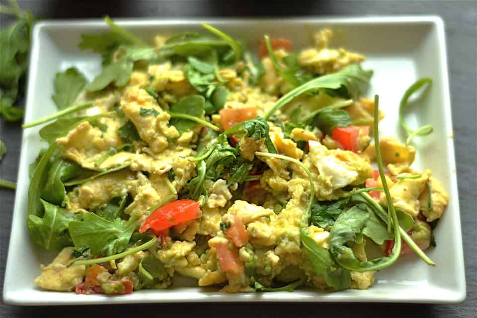 Green Egg and Tomato Scramble