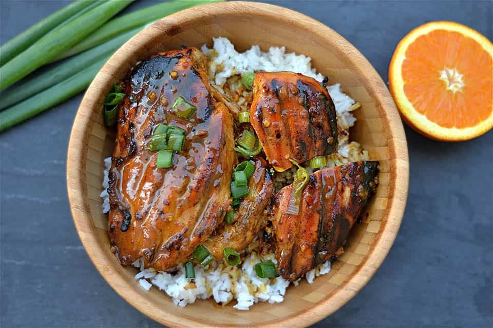 Grilled Orange Asian Chicken