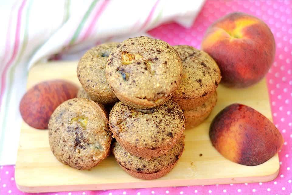 Peach Cobbler Muffins-Paleo & GF 1