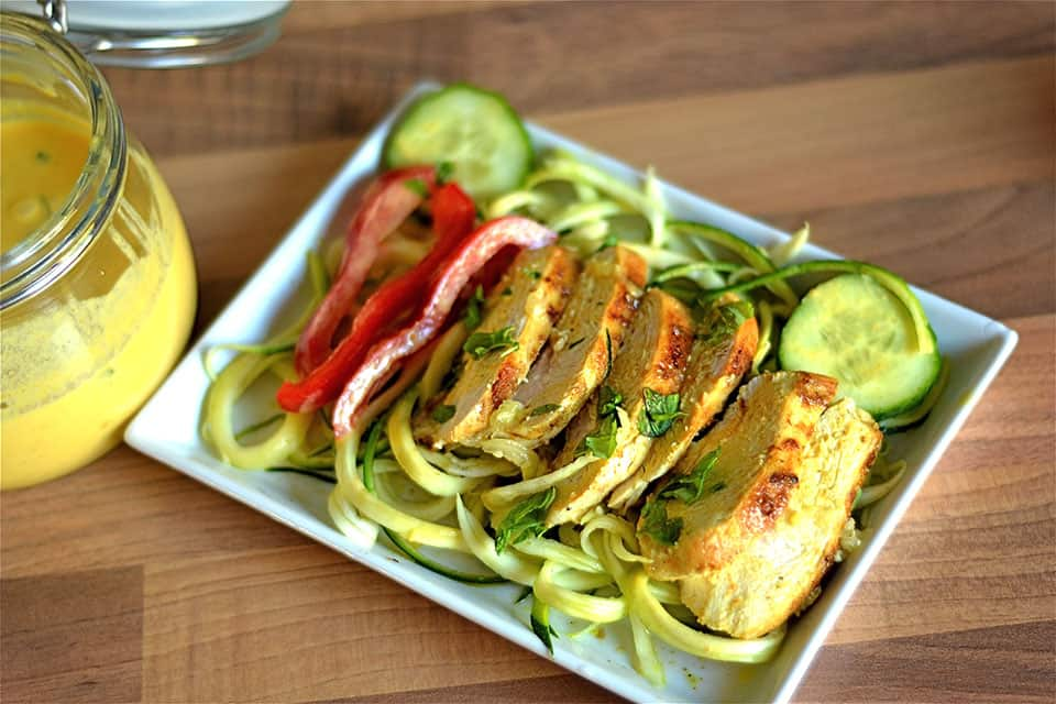 Thai Lemon Chicken with Zoodles