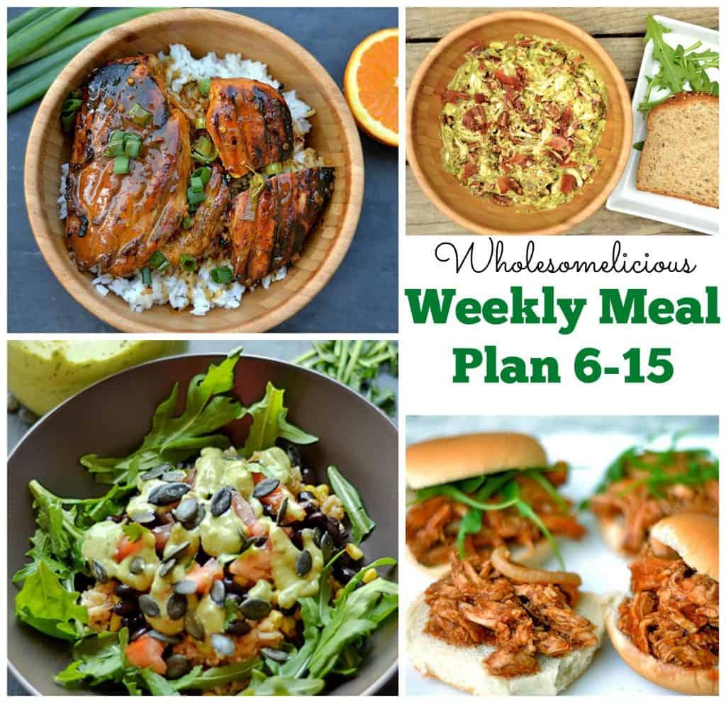 Weekly Meal Plan 6-15