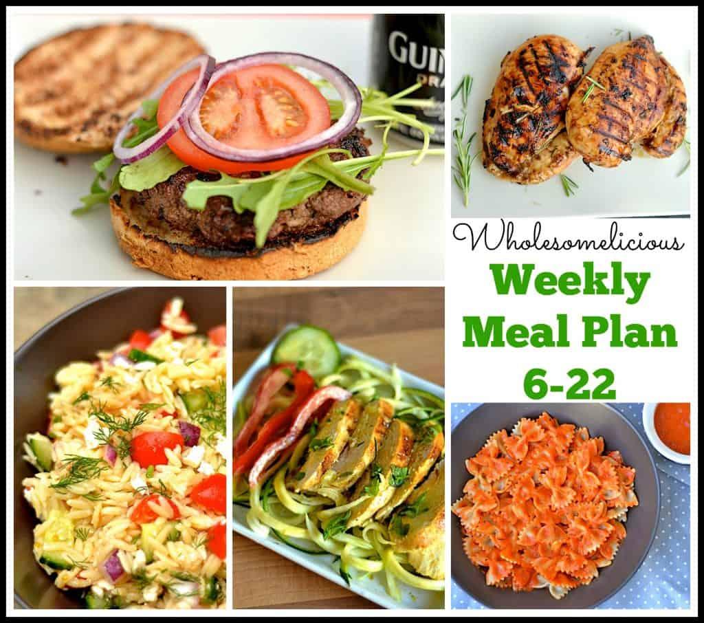 Weekly Meal Plan 6-22