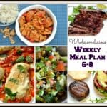 Weekly Meal Plan 6-8