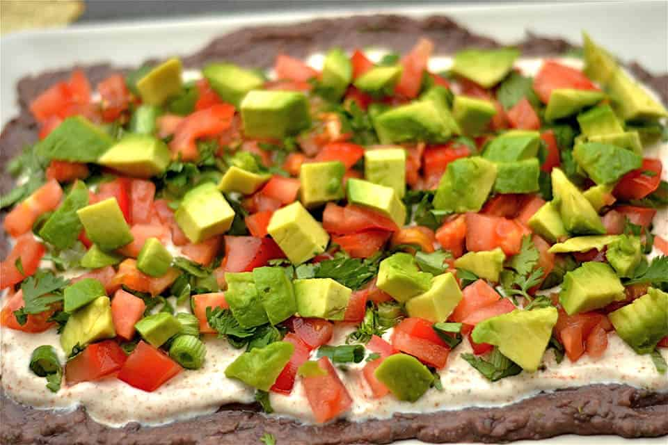 Black Bean and Chipotle Hummus Layered Dip2