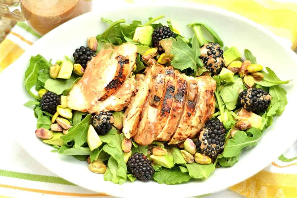 Grilled Chicken and Blackberry Salad