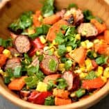 Grilled Sausage and Sweet Potato Salad