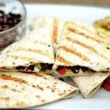 Grilled Veggie and Black Bean Quesadillas