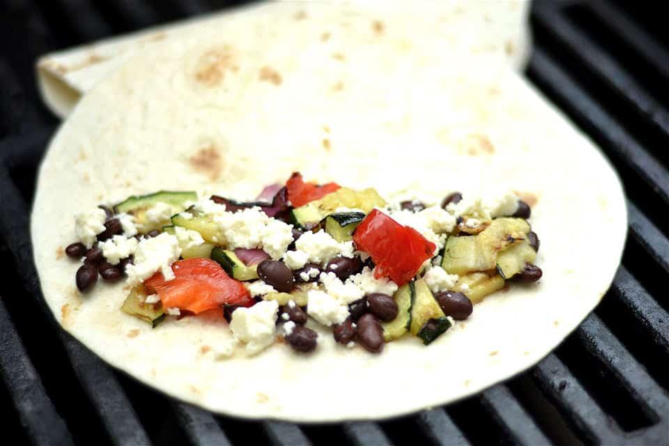 Grilled Veggie and Black Bean Quesadillas 2