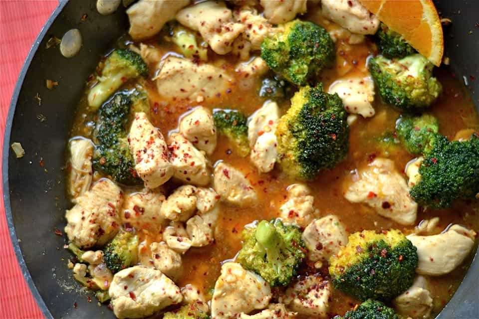 Orange Chicken and Broccoli2
