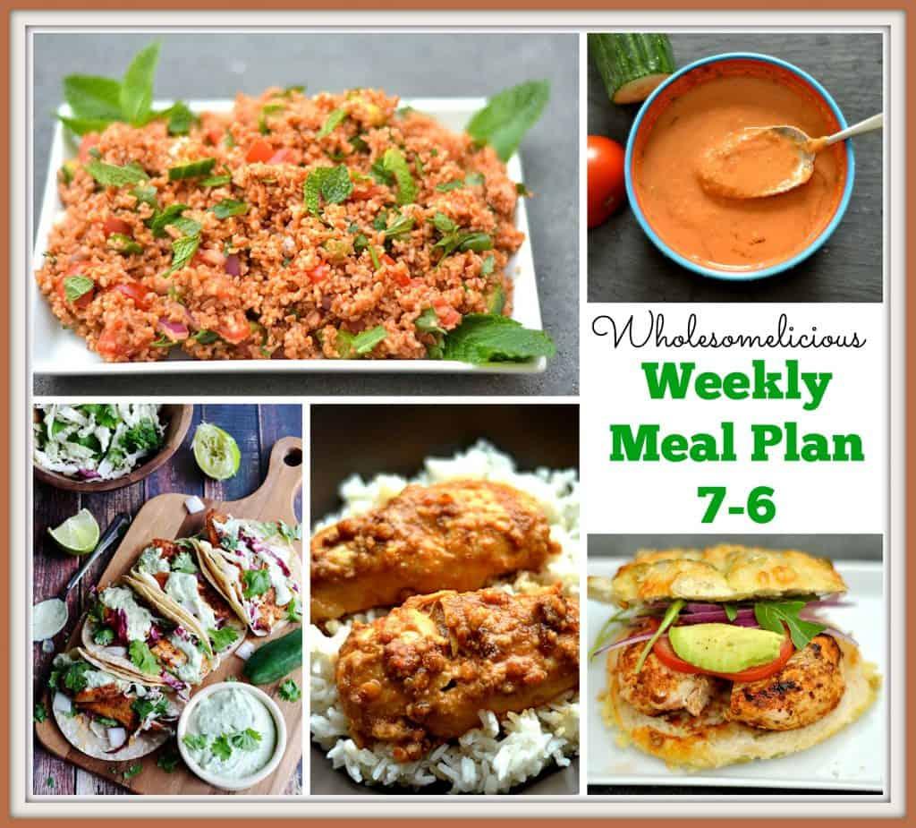 Weekly Meal Plan 7-6