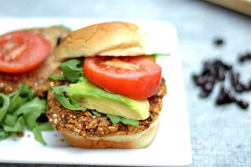 Black Bean, Sweet Potato, and Quinoa Burger