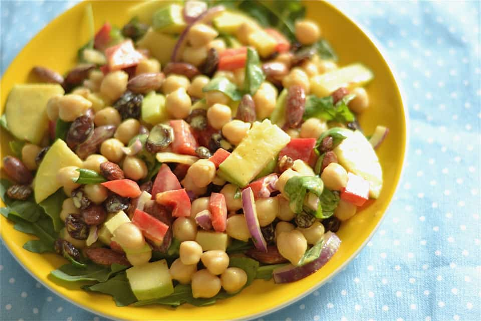 Coconut Curry Chickpea and Apple Salad copy