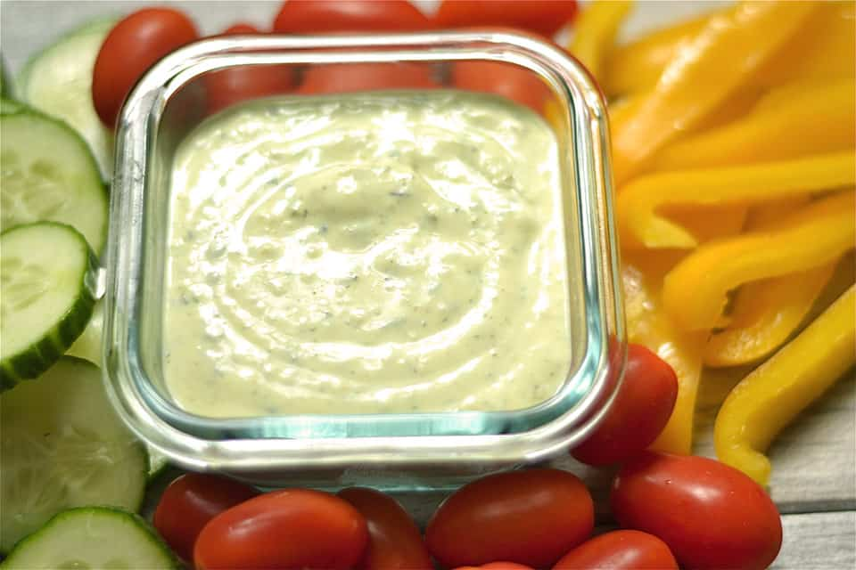 Protein Packed Avocado Ranch Dip 2