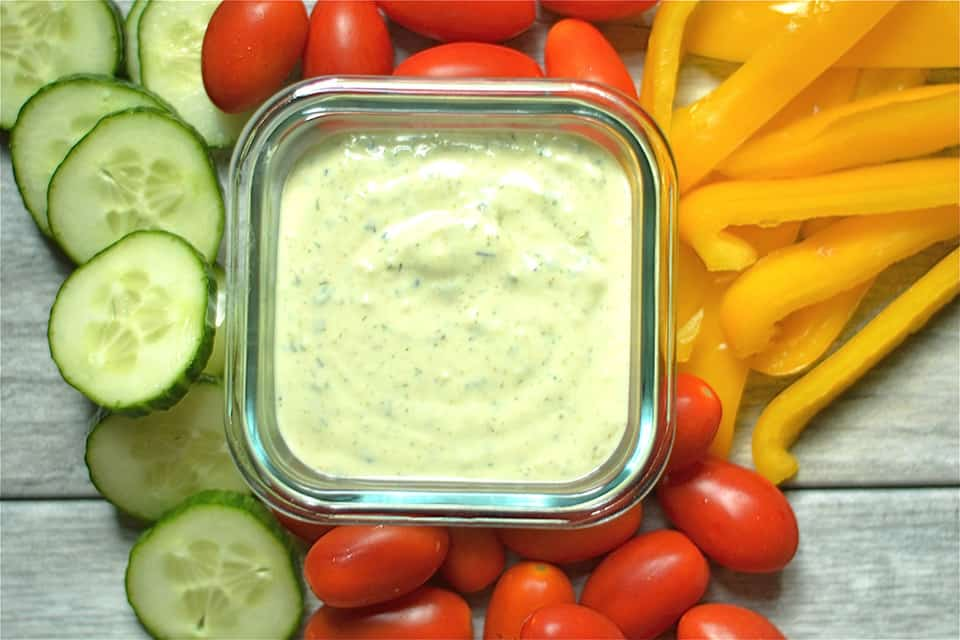 Protein Packed Avocado Ranch Dip
