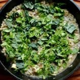 Salsa Verde Chicken and Wild Rice Skillet with Kale