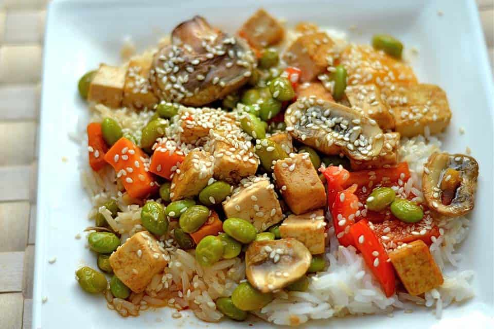 Sweet and Sour Tofu and Veggie Stir Fry - Wholesomelicious