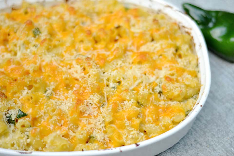 Baked Mac and Cheese with Poblano Peppers2