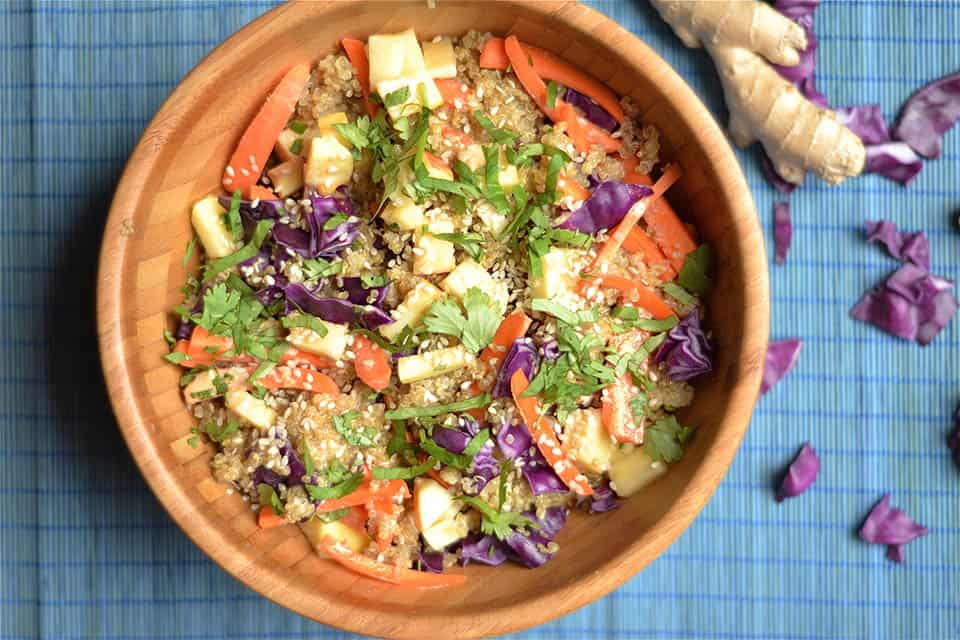 Carrot & Apple Asian Quinoa Salad